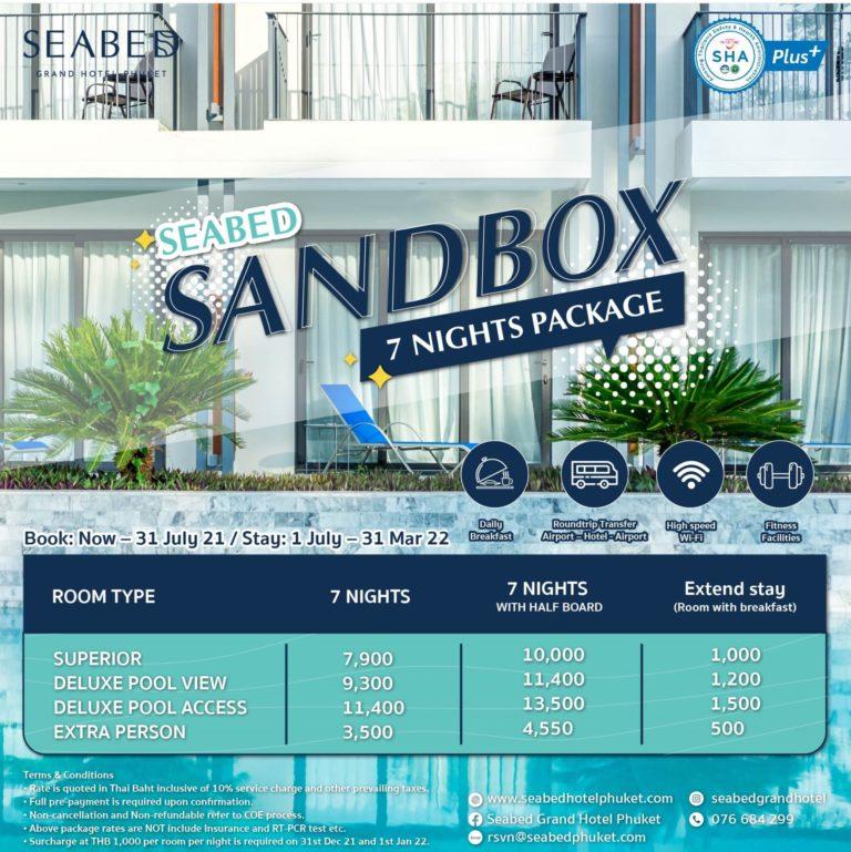 Sandbox7N SEABED GRAND HOTEL PHUKET